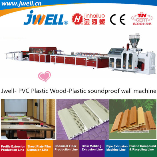 Jwell- PVC Plastic Wood-Plastic Soundproof Wall Decoration Profile Recycling Extrusion Machine for KTV|Hotel