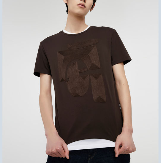 Wholesale Custom Autumn Men's T-Shirt Business Casual Cotton T-Shirt Round Neck and Short Sleeves T-Shirt