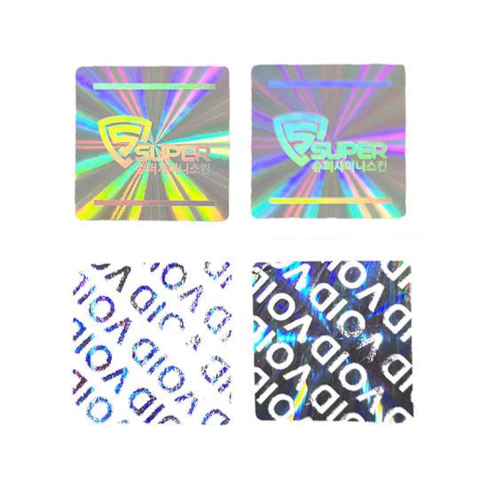 Custom Anti-Theft Void Laser Holographic Security Label Hologram Sticker