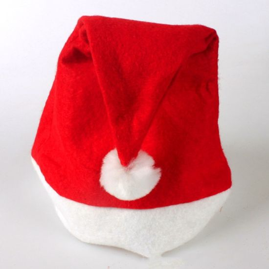 Promotion Cheap Custom Embroidered Logo Felt Christmas Hat