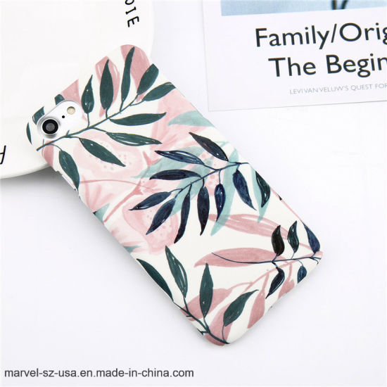Fashion Cartoon Leaf Pineapple Colorful Phone Cover Case for iPhone 8/7 /6 /6s /Plus