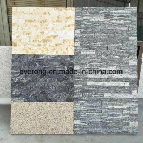China G302 Nero Santiago Grey With White Veins Granite Culture Stone