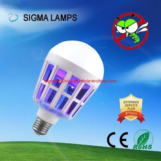 Sigma Smart Electric 7W 9W 12W 15W B22 E27 Anti Bug Pest Insect Flies Killing Repellent Bulbs Lamps Repellers Rechargeable LED Lighting Mosquito Killer Light