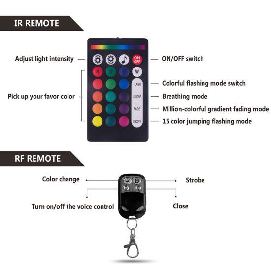 Bright Multi-Color LED Light Strips RGB 12pcs Controller For Kawasaki