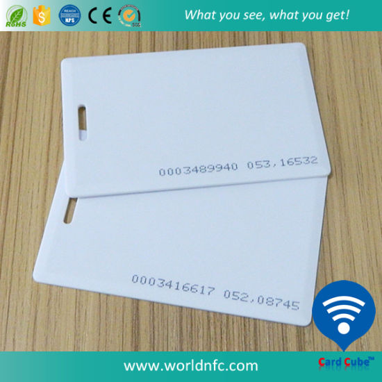 125kHz Em4200 PVC RFID Blank Thick Smart ID Card pictures & photos