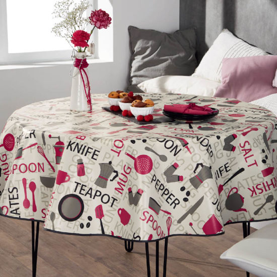 Custom Round PEVA Table Cover pictures & photos