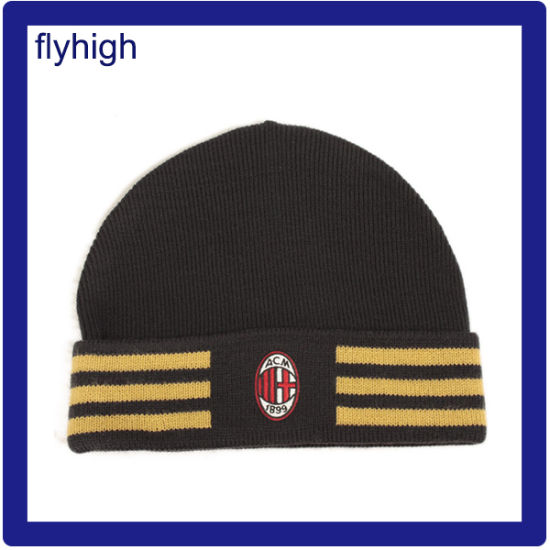 68f33697716 Custom High Quality Embroidered Winter Knitted Beanie Red Hat Knitting Hat  Acrylic Hat pictures   photos