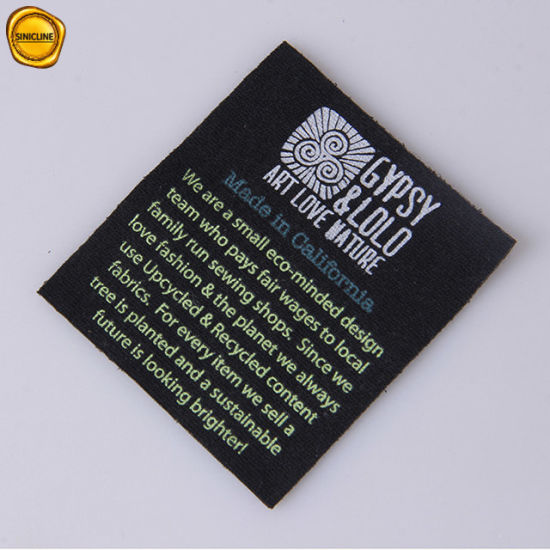 Sinicline Soft Touch Clustom Printing Care Label for Hat