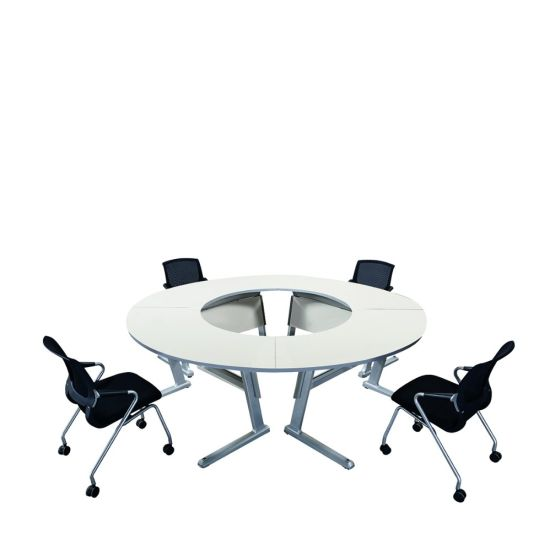 China Folding Sectional Conference Table Sets Metal Frame Office - Sectional conference table