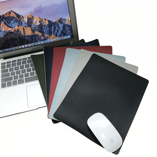 OEM PU Leather Mouse Pad Mat Waterproof for Office and Home