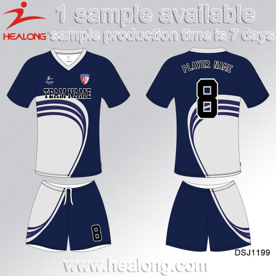 Healong New Design Digital Printing Soccer Uniforms pictures & photos