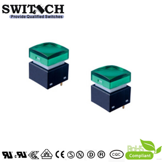 Sgs Illuminated Micro Push On Light Switch Green Lamp Used In Smart Home