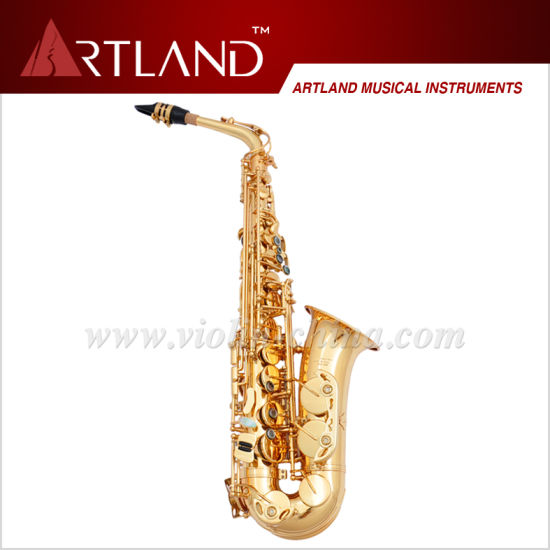 Eb Key Golden Lacquer Finish Professional Alto Saxophone (AAS5506G) pictures & photos