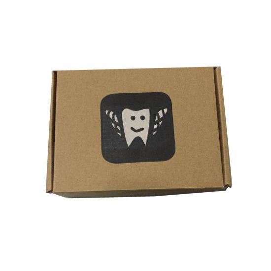 Logo Black Color Flexo Print Corrugated Box with High Quality