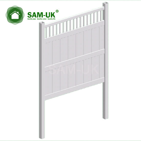 6' X 8' Vinyl PVC Privacy Fencing Double Gate on Deck