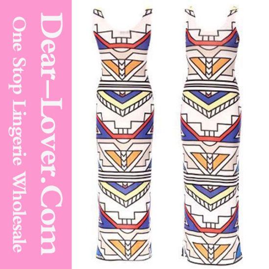 Aztec Tribal Stripe Soft Long Wedding Evening Dresses