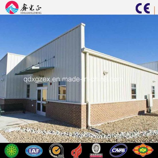 Steel Frame Workshop with Concrete Wall and Parapet Wall (SS-27)