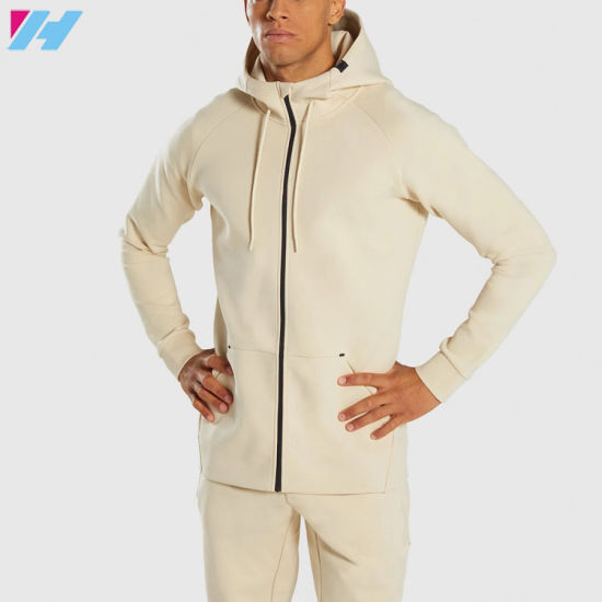 Plain Blank Customzied Colors Available Male Zip Hoodies for Men