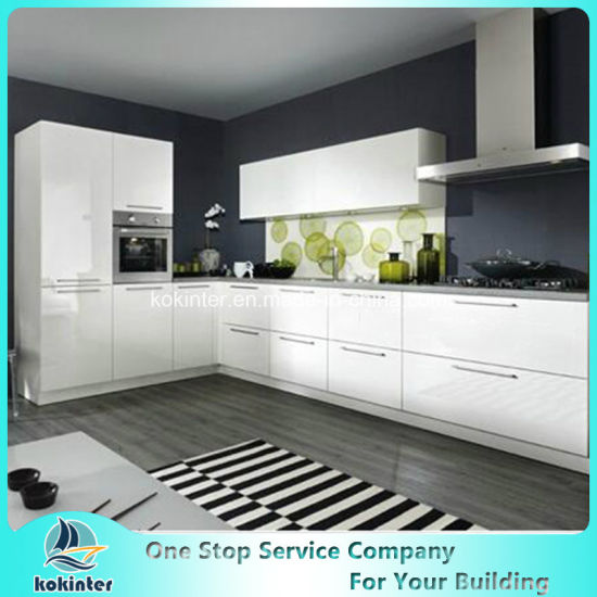 Acrylic Cabinet High Gloss Ready Made MDF Modular Cheap China Simple Design  Modern Kitchen Cabinet