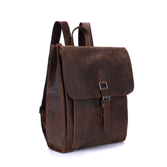 New Arrival Vintage Men Leather Bag School Backpack pictures & photos