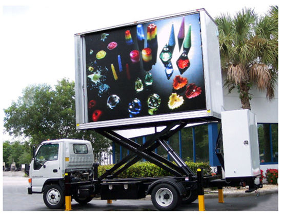Full Color Low Power Consumption Outdoor Truck Vehicle Mobile LED Display for Advertising pictures & photos