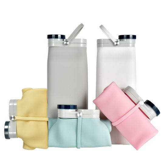 Foldable Soft Silicone Water Bottle Reusable Collapsible Bottles Climbing Biking Travel Tanks