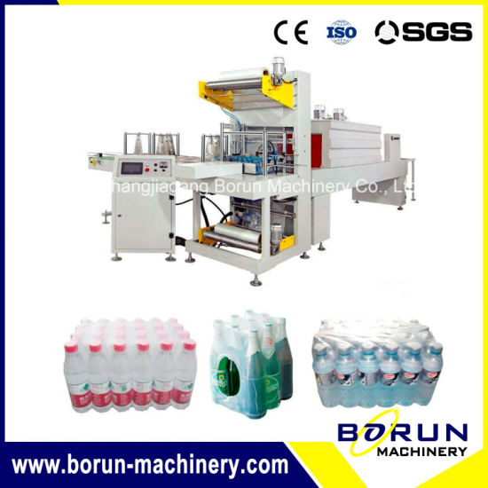 Beverage Bottle PE Film Shrink Wrapping Packing Machine