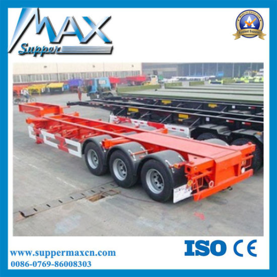 Tri-Axle Container Semi-Trailer with Fuwa/BPW Axles pictures & photos