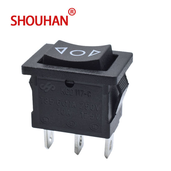 Rocker Switch Kcd117-C Momentary Re-Set Switch with 3 Pin