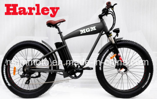 Harley Fat Tire Bike 26inch Mountain Beach Cruiser Electric Bike pictures & photos