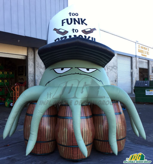 Inflatable Cartoon Squid for Advertising