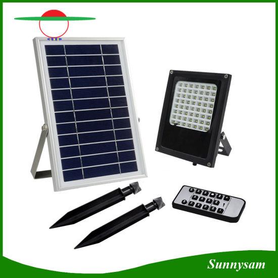 Outdoor Solar Garden Lighting IP65 Waterproof 56 LED Remote Control Solar  Flood Light