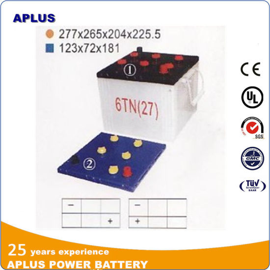 Hot Sale Dry Charge 6tn 12V100ah Lead Acid Storage Battery pictures & photos