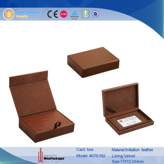 China brown leather office supplies name business card box holder brown leather office supplies name business card box holder 5761 reheart Image collections