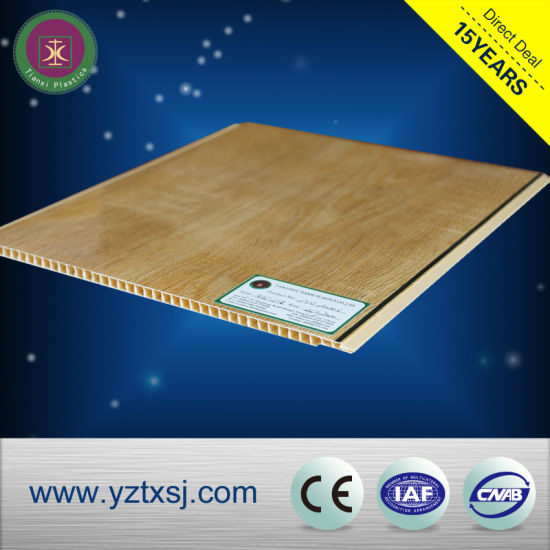 PVC Ceiling Tiles Ceiling Boards with Light Wood Color pictures & photos