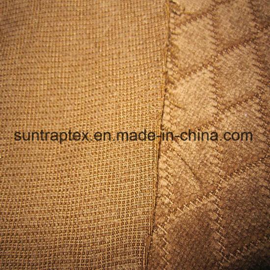 Polyester Jacquard Diamond Corduroy Fabric For Sofa /Dobby Knitted Sofa  Fabric