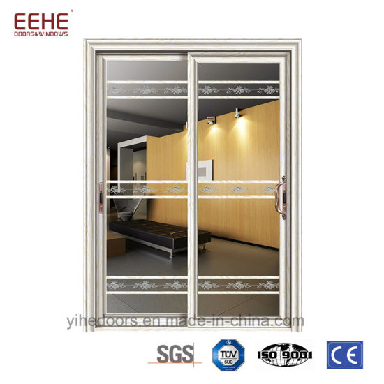 China Low E Glass Aluminium Glass Sliding Doors Residential Heavy