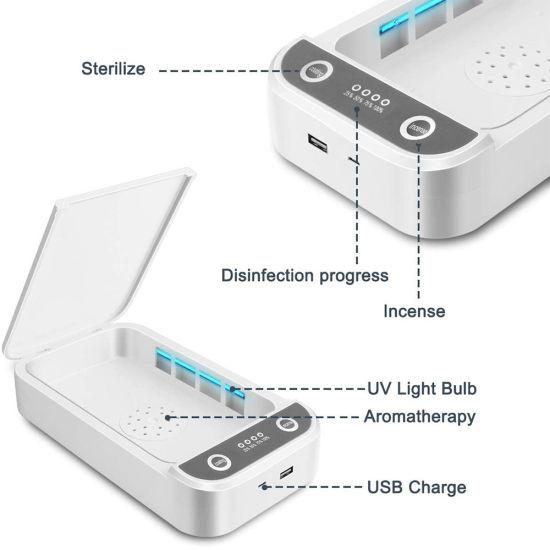 Fast Delivery Mobile Phone Portable Disinfection Light UV Sterilizer Box