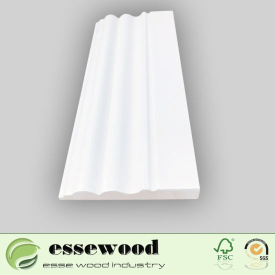 China Primed Wood Trim Wood Wall Skirting Board Floor Trim Moulding