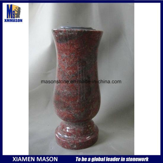 China Granite Flower Vase For Tombstone And Gravestone China Vases