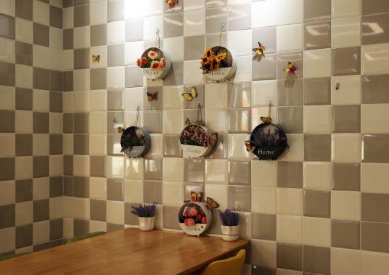 Grey 6X6inch/15X15cm Villa Porcelain Tile Antique Tile Living Rooms  Interior Wall Tile