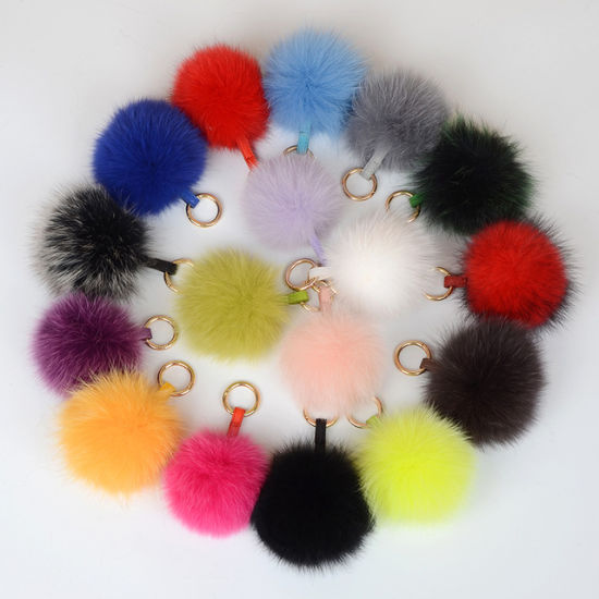 Superior Quality Fox Animal Fur Material Pompoms pictures & photos