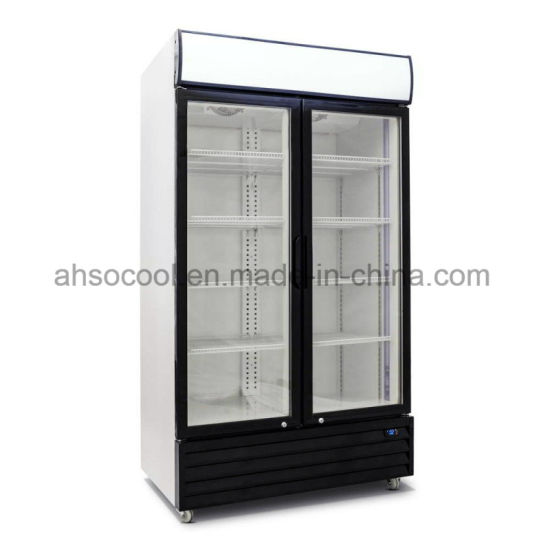 China Slim Upright Commercial Glass Door Fridge For Stores And