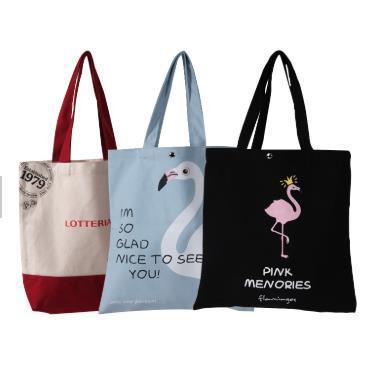 Promotional Custom Logo Printed Organic Cotton Bag Canvas Tote Bag