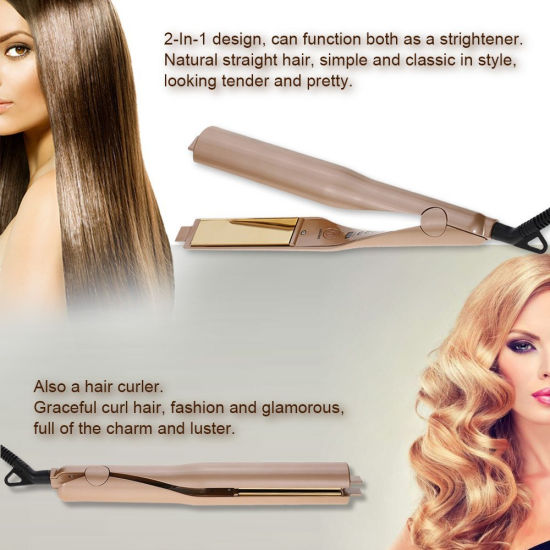 c658d850d4be 2 in 1 Hair Straightener Curling Iron Hair Curlers Rollers Auto Hair Curler