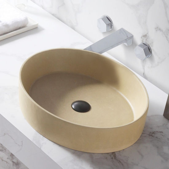China Industrial Simple Style Decoration Engineering Rectangle Lavabo Bathroom Concrete Sink Wash Cement Basin China Basin Art Basin