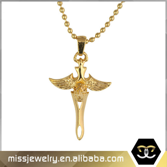 80e6fbb6a33 China Dubai Gold Hip Hop Thord Eagle Cross Pendant Necklace Mjhp072 ...