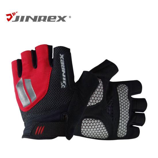 Gym Bicycle Half Finger Cycling Gel Padding Bike Silicone Anti-Slip Sports Glove