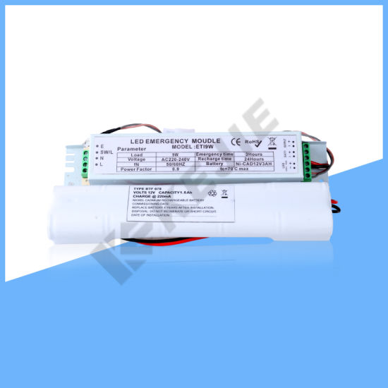 220V DC 100% Output LED Emergency Power Supply for 9-20W LED Tube