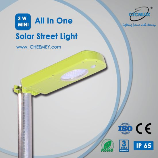 All in One Wall and Pole Mounted LED Solar Street Light